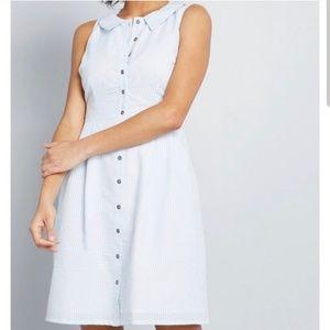 NWT Modcloth Seersucker Dress